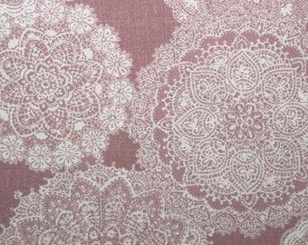 Japanese Fabric, Doilie Fabric, Pink, Cotton, Cotton Fabric, Sewing Fabric, Quilting Fabric, Prima Ruru Bouquet, Pink, Quilt Gate