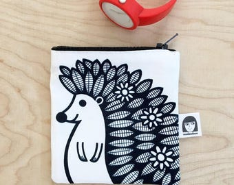 Hedgehog Fabric Purse by Jane Foster