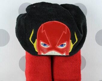 Teen or Adult Hooded Towel - Flash Hooded Towel – Flash Hero Towel for Bath, Beach, or Swimming Pool