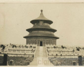 vintage photo 1920 Beijing China Temple of Heaven Emperor of China Worshiped ea Year
