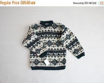 25% OFF SALE heavy wool sweater   ecuadorian sweater   ethnic sweater
