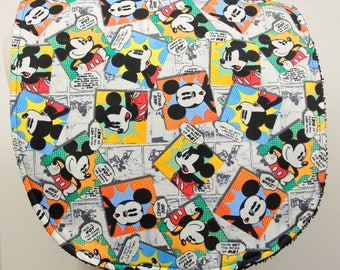 Youth/Junior Unisex Bib, Special Needs, Cerebral Palsy, Drooling, Epilepsy, Seizure, 14-inch neck opening: Packed Cartoon Mickey