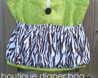 SALE Boutique Diaper Bag - easy pdf sewing pattern - large tote bag also makes a great travel bag - Instant Download