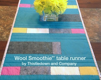 Modern table runner pattern - Wool Smoothie