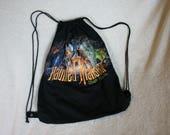 Vintage Haunted Mansion Drawstring Bag Backpack made from tshirt Disney World Disneyland Custom