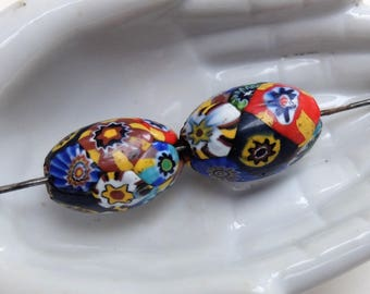 Antique Trade Beads Supply Mosaic Glass Millefiori