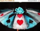 "SUMMER SALE 20% OFF Alice of Hearts Tutu - Adult Teen Pre-teen Costume Tutu - Custom Sewn Tutu - 12"" long"