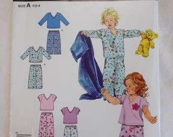 Simplicity 2734, Toddler Pajamas Pattern, Baby Pajamas Pattern, Simplicity It's So Easy Children's Pattern
