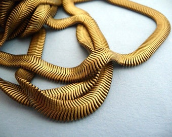 4 ft Old Brass Snake Chain