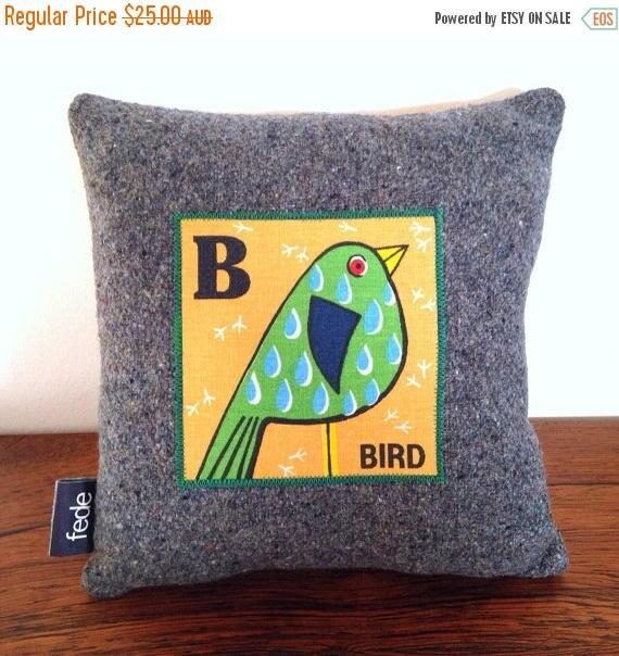 Animal Pillows For Nursery : Bird Decorator Pillow, Kids Pillow, B for Bird, Cushion, Personalised Pillow, Animal Nursery ...