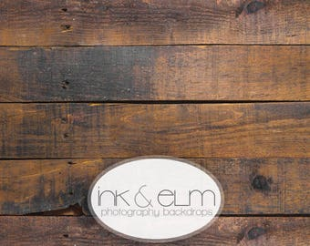 "Photography Backdrop 6ft x 6ft, Vinyl Photography Floordrop / Backdrop, Rustic Old brown Wood Floor, wood Photo backdrop, ""Forest Ridge"""