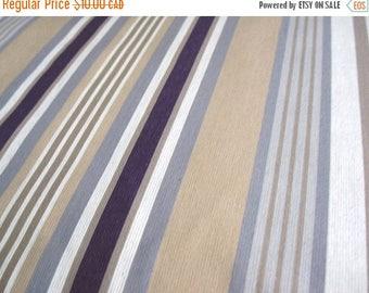 SALE - Aubergine Stripe - IKEA Benzy Rand Cotton Fabric