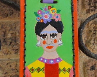 Luggage Tag with Colorful Frida