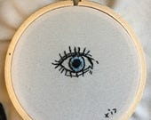 Blue Protection Eye Small Embroidery
