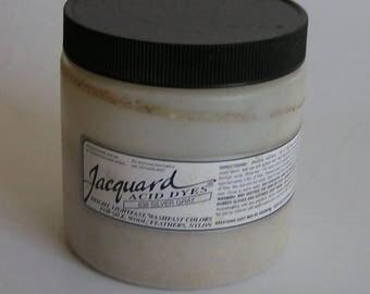 SILVER Jacquard Acid Dye Professional LARGE 8 oz powder dye for wool silk fur feathers leather nylon protein fiber jar