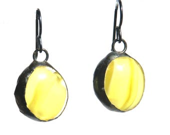 Round Earrings- Yellow