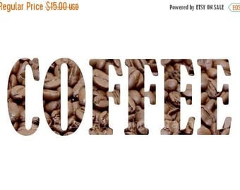 50% OFF SALE Kitchen Print Hostess Art Home Decor 5x7 inch Print of Coffee Beans Brown Wall Art Kitchen Decor Food Photography Typography Ho