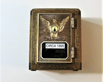 Post Office Box 1895 Door Bank Safe  Antique Door With Two Keys