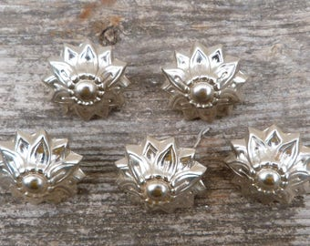 Vintage Antique old French  tapissier nails /Head nails /set of 5