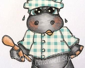 2037 Chef Hippo Digi Stamp