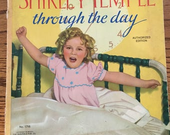 """Vintage 1936 Saalfield 1716 """"Shirley Temple Through the Day"""" Book #1716"""