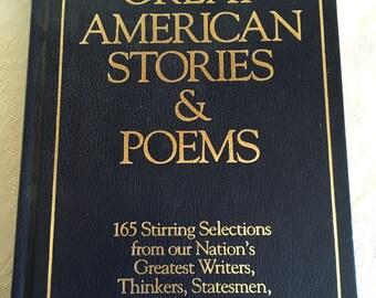 Great American Stories & Poems Hugh Graham Galahad Books 1956 EUC