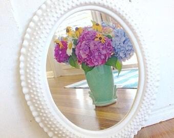 Mirror Mirror On The Wall... Vintage Hobnail Faux Milk Glass MilkGlass Mirror Burwood Farmhouse Decor