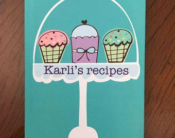birthday gifts for her recipe journal personalized