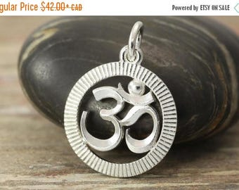 CLOSING SALE Om Sterling silver pendant - Om necklace