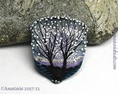 FROZEN LAKE...handmade lampwork bead by Anastasia...SRA...ooak...
