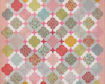 Sue Daley LATTICE ROSE Quilt Kit English Paper Piecing & Needle Turn Applique Fabric LRQ