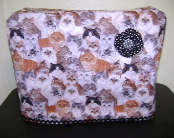 Sewing Machine Cover In Cat All Over Fabric Standard Size