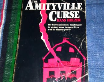 Amityville Curse by Hans Holzer Amityville Horror Horror Book Cult Classic Paranormal Horror Novel Haunted House
