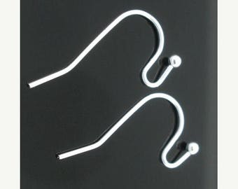 40% Retirement Closeout - French Ear Wires, Silver Plate, 21mm