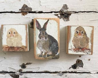 Easter Collection, Chicks and Rabbit