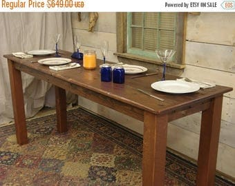 "ON SALE Driftwood Table, Cherry Stained & Satin Polycrylic coating (80""L x 24""W x 36""H)"
