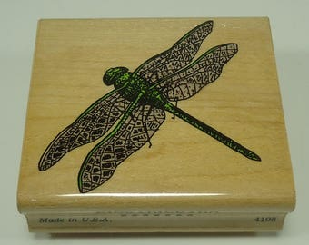Dragonfly Wood Mounted Rubber Stamp By Inkadinkado, Bug, Insect