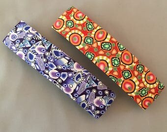Your choice- French style Barrettes, original polymer clay designs.