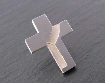 Deacon Stole Cross Lapel Pin, Intaglio Stole Tac, Diaconate - Spiritus Christian Jewelry