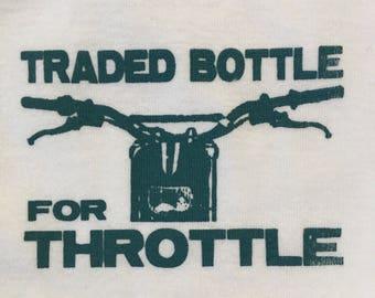 Last in stock!! Blue Hardcore Baby Motorcycle Dirt Bike Traded Bottle for Throttle Onesie Bodysuit Tshirts