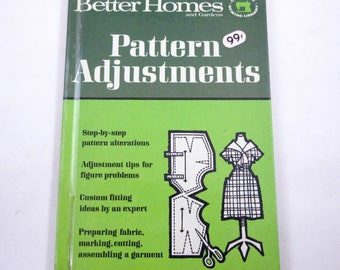 Pattern Adjustments Vintage 1960s Better Homes and Gardens Illustrated Sewing Book