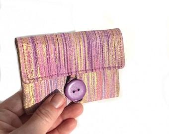 women card holder cloth card case. small teen girl gift idea. business card holder. cotton material