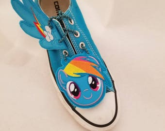 Rainbow dash inspired toe charms and shoe wings set (finished item)