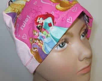 Kids  Princess Rules  Children  Lightweight  Hat -Chemo, Cancer, Alopecia,Sleep Cap, Summer Chemo Hat