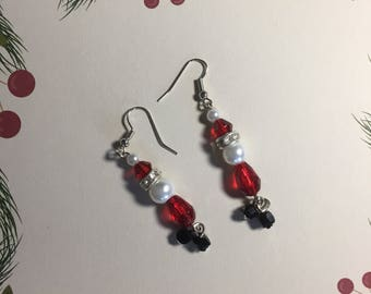 Santa earrings