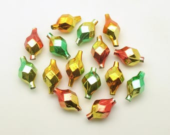 Glass Beads Faceted Icicle Beads