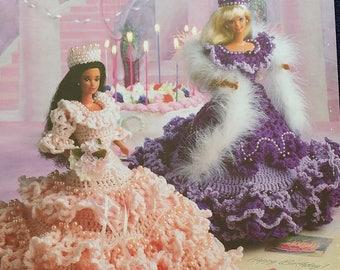 Annies Attic Birthday Belles Fashion Doll Dress Crochet Pattern