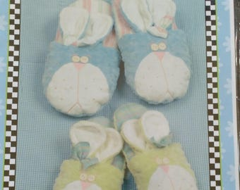 Bunny Slippers Pattern by L A Designs