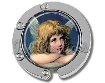 NEW just for this holiday season!! Foldable Bag Purse Hook - Victorian Guardian Angel FHK193