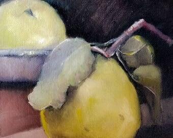 """Oil Painting 6x6"""" Stilllife Pears  Still Life Original"""